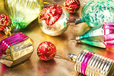 Vintage Christmas baubles