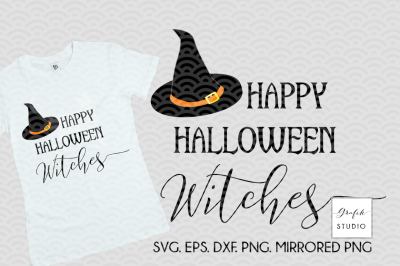 Happy Halloween Witches SVG, Halloween SVG, Fall SVG,
