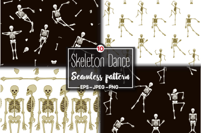 Dancing Skeletons Pattern