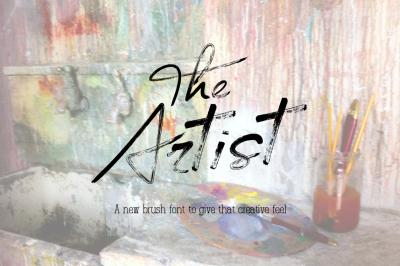 The Artist - Brush font