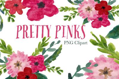 Pink Watercolor plowers