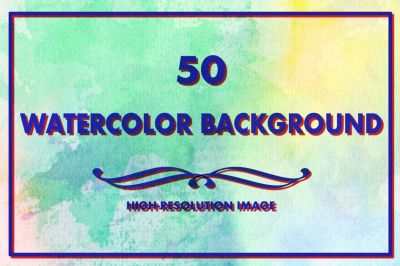 50 Watercolor Backgrounds 09