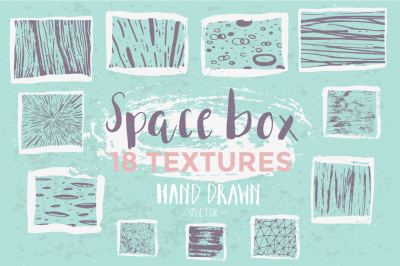 Collection of 18 hand drawn ink textures