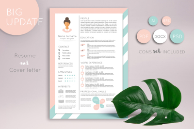 Feminine resume and Cover letter