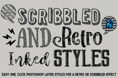 Scribbled And Retro Inked Styles