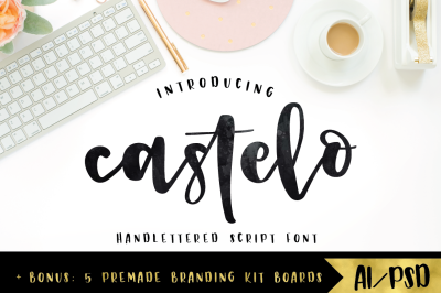 Castelo Script + 5 Branding Kits