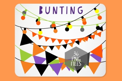 Halloween Bunting and String of Lights