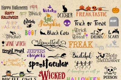 Halloween Word Art Clipart