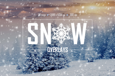 30 Real Snow Overlays