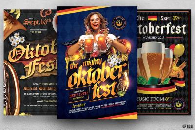 Oktoberfest Flyer Bundle V4