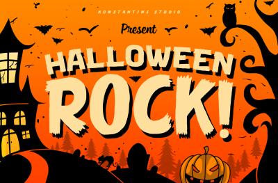 Halloween Rock!   Cute Horror Font
