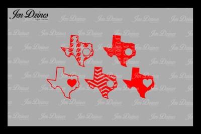 Texas Outline, Football, Baseball, Chevron, Heart SVG DXF EPS PNG