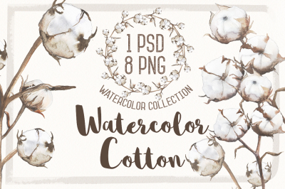 Watercolor  Cotton