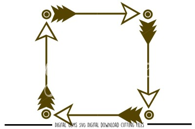 Tribal Arrow square SVG / DXF / EPS / PNG Files