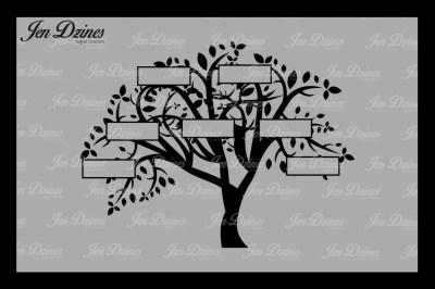 Family Tree 7 Names VG DXF EPS PNG