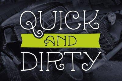 Quick & Dirty Mini Font