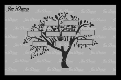 Family Tree 9 Names SVG DXF EPS PNG
