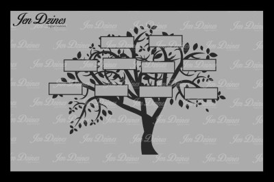 Family Tree 10 Names SVG DXF EPS PNG