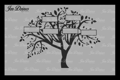 Family Tree 6 Names SVG DXF EPS PNG