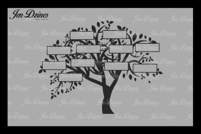Family Tree 11 Names SVG DXF EPS PNG