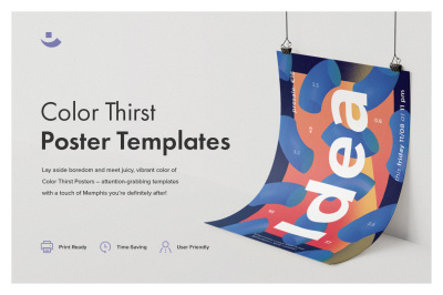 Color Thirst Poster Templates
