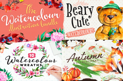 The Watercolour Illustration Bundle