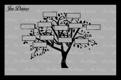 Family Tree 12 Names SVG DXF EPS PNG