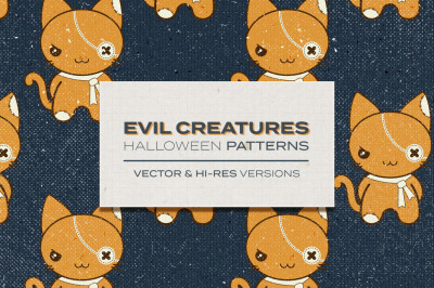 Evil Creatures - Halloween patterns