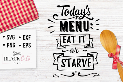 Today's menu - Eat it or starve - SVG