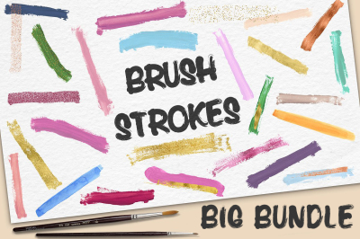 Handdrawn Brush Strokes BIG BUNDLE