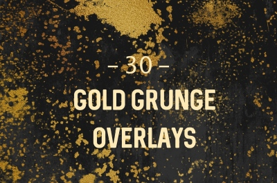 Gold Grunge Overlays