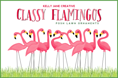 Flamingo Lawn Flock