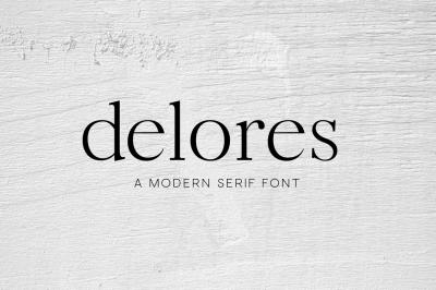 Delores - A Modern Serif Font