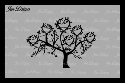 Heart Family Tree 6 Names SVG DXF EPS PNG