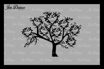 Heart Family Tree 8 Names SVG DXF EPS PNG