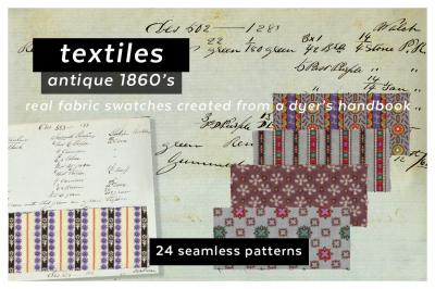 Antique Samplebook Textile Collection
