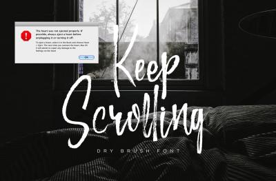 Keep Scrolling - Handwritten Font
