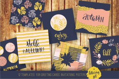 12 autumn templates