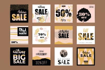 12 fall sale templates