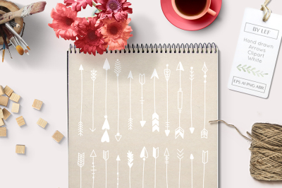 Handdrawn Vector Arrows and Photoshop Brushes