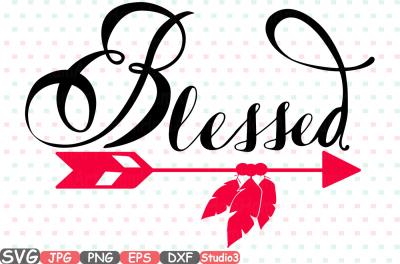Blessed Monogram Silhouette SVG Cutting Files Digital Clip Art Graphic Studio3 cricut cuttable Die Cut Machines Christian Religious 53sv