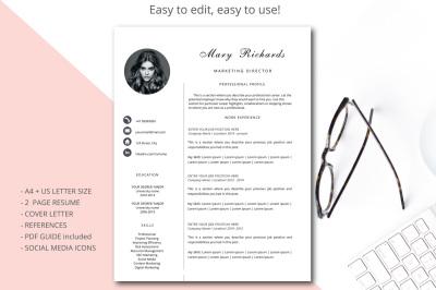 Resume template CV Template Simple style