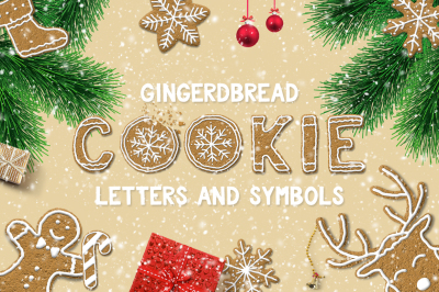 Gingerbread Cookie Letters and Symbols