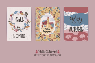 23 autumn templates with llustration