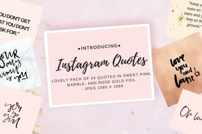 Instagram quotes pack