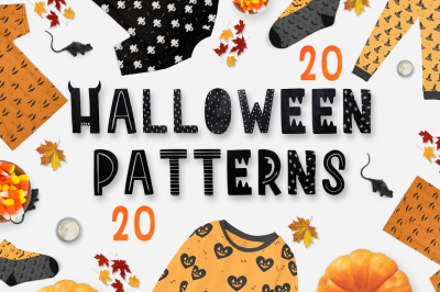 20 halloween patterns pack!