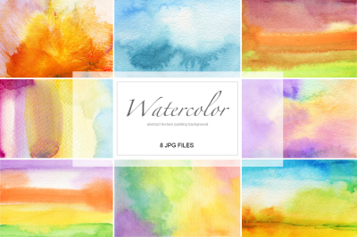 Abstract acrylic and watercolor painted background. 8 jpg+bonus 2 files.