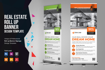 Real Estate Rollup Banner Signage
