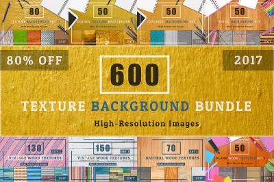 600 TEXTURE BACKGROUND BUNDLE