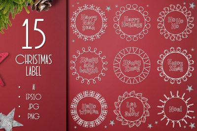 15 Christmas Labels And Badges